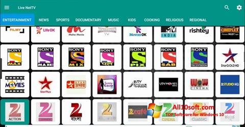 સ્ક્રીનશૉટ Net TV Windows 10