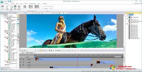 સ્ક્રીનશૉટ VSDC Free Video Editor Windows 10