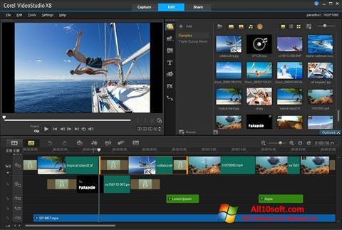 સ્ક્રીનશૉટ Corel VideoStudio Windows 10