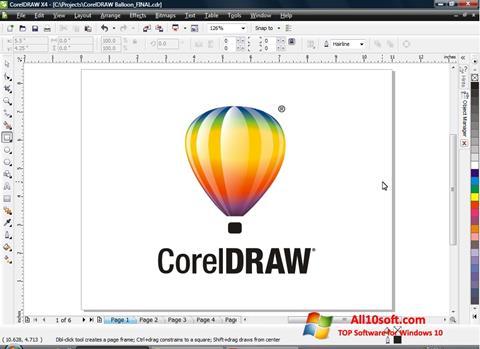 સ્ક્રીનશૉટ CorelDRAW Windows 10