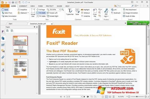 સ્ક્રીનશૉટ Foxit Reader Windows 10