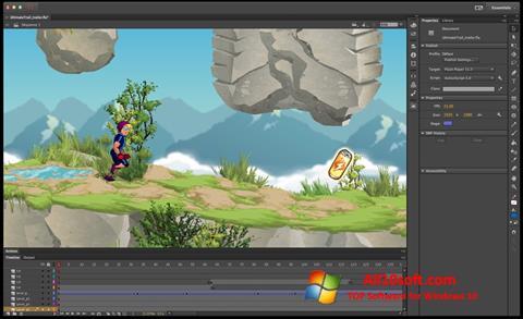 સ્ક્રીનશૉટ Adobe Flash Professional Windows 10