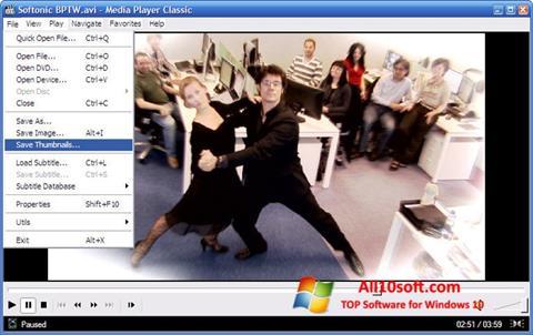સ્ક્રીનશૉટ Media Player Classic Windows 10