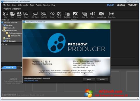 સ્ક્રીનશૉટ ProShow Producer Windows 10