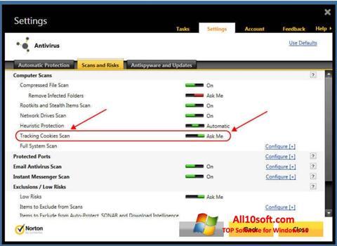 સ્ક્રીનશૉટ Norton Windows 10