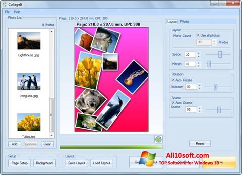 સ્ક્રીનશૉટ CollageIt Windows 10