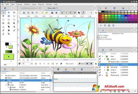 સ્ક્રીનશૉટ Synfig Studio Windows 10