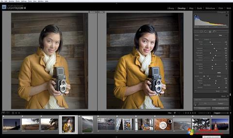 સ્ક્રીનશૉટ Adobe Photoshop Lightroom Windows 10