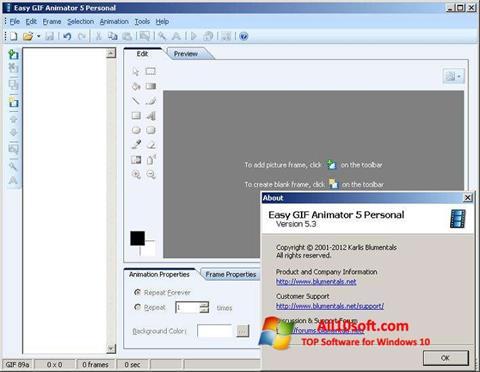સ્ક્રીનશૉટ Easy GIF Animator Windows 10