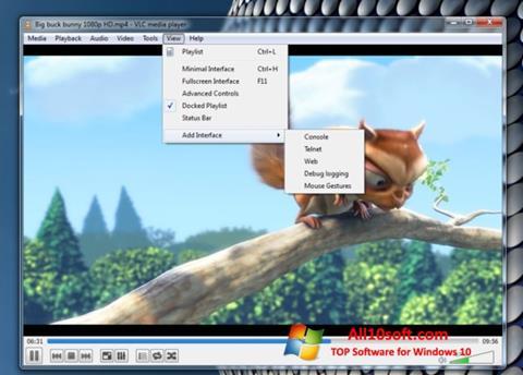 સ્ક્રીનશૉટ VLC Media Player Windows 10