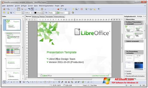 સ્ક્રીનશૉટ LibreOffice Windows 10