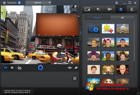 સ્ક્રીનશૉટ CyberLink YouCam Windows 10