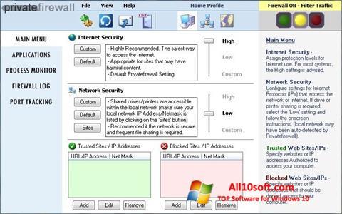 સ્ક્રીનશૉટ Privatefirewall Windows 10