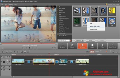 સ્ક્રીનશૉટ Movavi Video Suite Windows 10