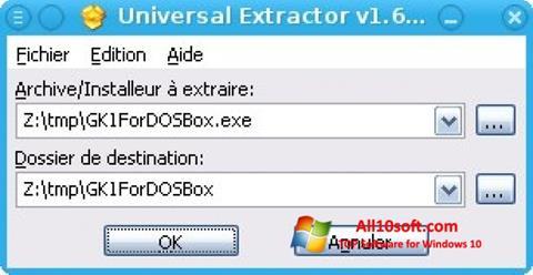 સ્ક્રીનશૉટ Universal Extractor Windows 10