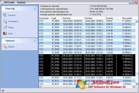 સ્ક્રીનશૉટ DUTraffic Windows 10