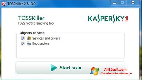 સ્ક્રીનશૉટ Kaspersky TDSSKiller Windows 10