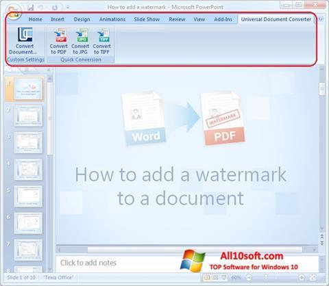 સ્ક્રીનશૉટ Microsoft PowerPoint Windows 10