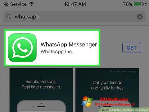 સ્ક્રીનશૉટ WhatsApp Windows 10