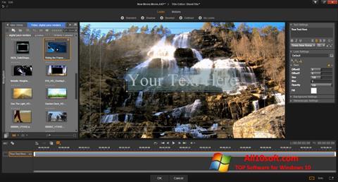 સ્ક્રીનશૉટ Pinnacle Studio Windows 10