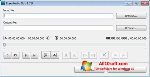 સ્ક્રીનશૉટ Free Audio Dub Windows 10