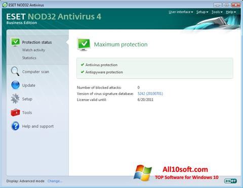 સ્ક્રીનશૉટ ESET NOD32 Windows 10