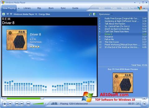 સ્ક્રીનશૉટ Media Player Windows 10