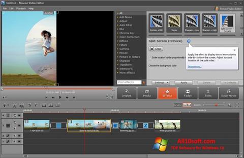 સ્ક્રીનશૉટ Movavi Video Editor Windows 10