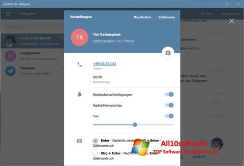 સ્ક્રીનશૉટ Telegram Windows 10