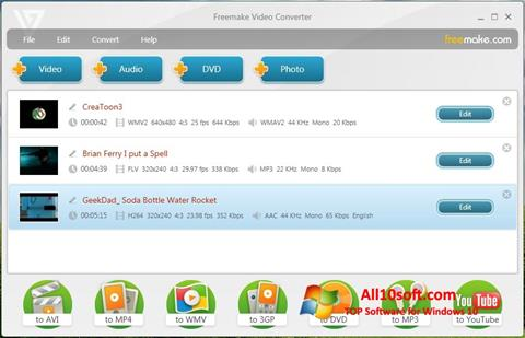 સ્ક્રીનશૉટ Freemake Video Converter Windows 10