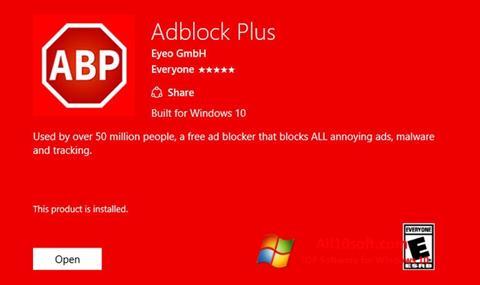 સ્ક્રીનશૉટ Adblock Plus Windows 10